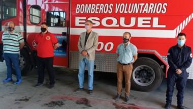 La Federación de Bomberos Voluntarios de Chubut se reunió en Esquel y recibieron la visita del intendente.