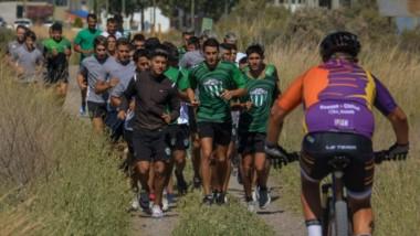 """Los futbolistas del """"Verde"""" capitalino empezaron a recuperar el estado físico perdido a raíz de la pandemia."""