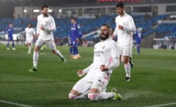 Triunfo del Merengue 2-0 ante el Getafe con aroma francés: Karim Benzema y Ferland Mendy.
