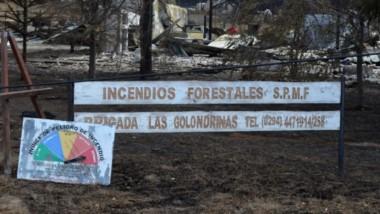 Peligro extremo. Este era el sitio en donde funcionaba la Central de Incendios de la localidad cordillerana de Las Golondrinas.