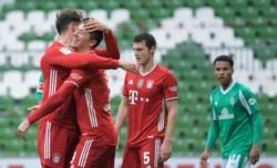 Lewandowski marcó y lleva 32 goles en 25 fechas de la Bundesliga.