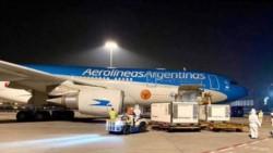 A las 18.15 hs. aterrizará en Ezeiza el vuelo AR1063 de Aerolíneas Argentinas proveniente de Moscú.