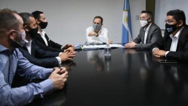 Maderna se reunió este martes con el secretario de Obras Públicas de la Nación.