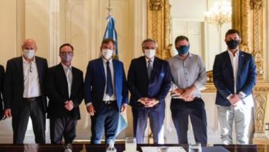 Los intendentes de la Comarca Andina fueron recibidos por el Presidente.
