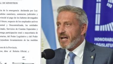 Con la medida el Gobierno Provincial busca protegerse de eventuales embargos contra el Estado.