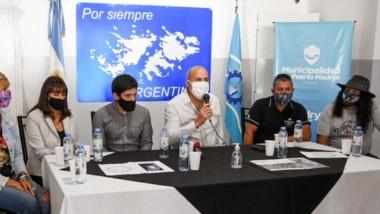 Daniel Belmar, presidente de Veteranos de Malvinas, invitó a la comunidad a participar de las propuestas.