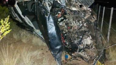 El vehículo VW Passat muestra los efectos que provocó el siniestro.