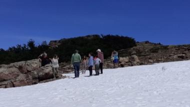 Nieve en el Plateau. Los turistas disfrutaron este verano del cerro Perito Moreno con postales magníficas.