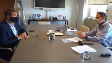 El intendente de Rawson mantuvo una importante reunión en Capital.