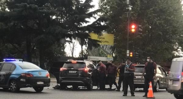 Campuzano protagonizó un choque en Avenida del Libertador y Callao de CABA.