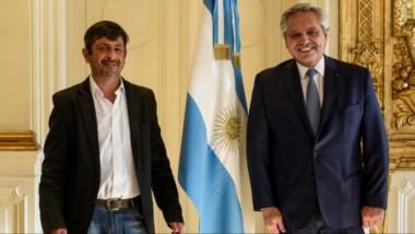 Ayuda nacional. El intendente de Cholila fue recibidido por el presidente Alberto Fernández.