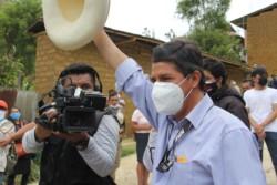 El sindicalista de izquierda Pedro Castillo parecía asegurarse un lugar en la segunda vuelta por la Presidencia de Perú.