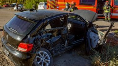 El accidente vial se produjo en el cruce de la ruta 7 y la avenida Murga. Fue el domingo en horas de la tarde.