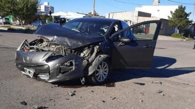 La esquina de Chacho Peñaloza y Congreso fue el sitio del accidente.
