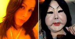 Antes y después. Juju Oliveira, una transexual brasilera de 30 años que hasta el día en que decidió inyectarse silicona industrial en la cara, tenía una vida normal.