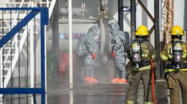 El episodio sucedió en la mañana de ayer y hubo un gran operativo de evacuación de los 120 trabajadores.