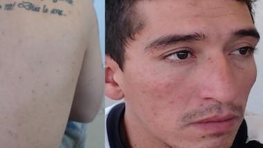 """Bassi y su tatuaje: """"Nadie podrá juzgarme, solo mi Dios lo ara (sic)""""."""
