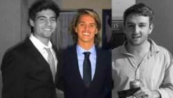 Joaquín Duhalde Bisi (Centro) junto a sus dos amigos fallecidos: como Franco Rossi y Joaquín Alimonda, de 18 y 19 años años.