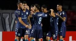 Novillo marcó su primer gol con la camiseta de Racing. Ante San Pablo y en el Morumbí. Inolvidable.