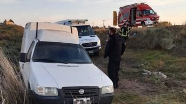 El accidente sucedió ayer en la ruta Nº 3 y el conductor fue al Hospital.