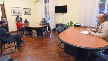 El relevamiento llevado a cabo ayer por el personal de Salud en cada una de las dependencias administrativas de Casa de Gobierno.