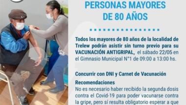 De 9 a 13 en el Gimnasio Municipal N° 1 con DNI y carnet de vacunación.