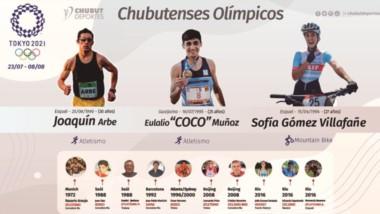 Joaquín Arbe y Eulalio Muñoz, en atletismo, y Sofía Gómez Villafañe, en Mountain, representarán a Chubut.