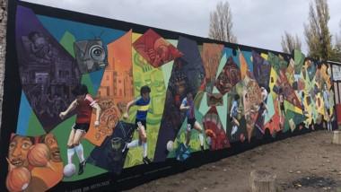 Imagen del mural que será inaugurado el venidero martes en Gaiman.