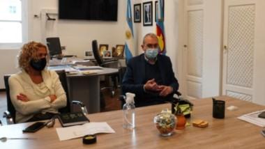 El ministro de Salud mantuvo un encuentro con los intendentes de Comodoro Rivadavia y Rada Tilly.
