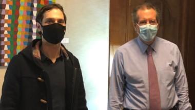 Análisis. Arnaudo (izquierda) en su visita al presidente del BCRA.