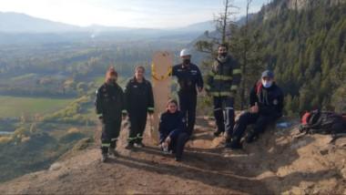 En la montaña. Es habitual que los bomberos salgan también a rescatar excursionistas heridos o extraviados.
