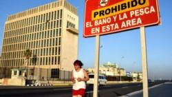 La embajada norteamericana en la Habana.