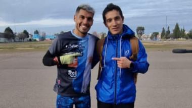 Gerardo Haro y el olímpico Joaquín Arbe entrenaron en Trelew.