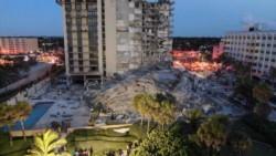 Derrumbe parcial de un edificio de varios pisos dejó al menos un muerto y varios heridos en la comunidad costera de Surfside, en el sur de Florida.