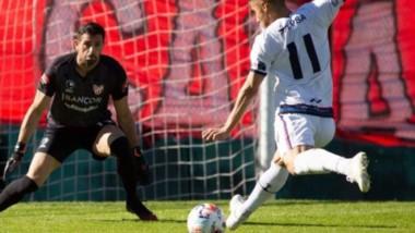 Sebastián Medina tuvo una nítida ocasión para convertir un gol el pasado miércoles ante Instituto.