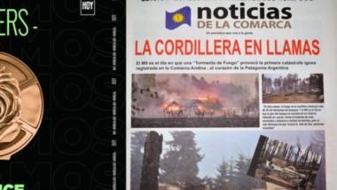 Premio. A la izquierda, una imagen del premio a una publicación inédita y original destinada a crear conciencia sobre los incendios forestales.