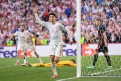 Morata anotó el cuarto tanto español.