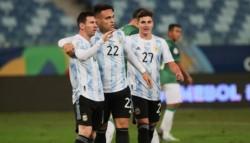 Argentina cerró su participación en la fase de grupos con goleada 4-1 sobre Bolivia.
