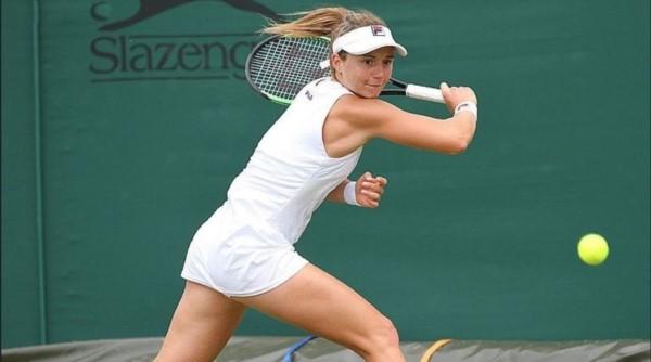 Un día que jamás olvidará: así cerró su partido contra Ann Li Nadia Podoroska, para avanzar de ronda en su primer partido en el cuadro principal de Wimbledon.
