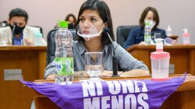 En la sesión se planteó la necesidad de visibilizar el reclamo feminista.