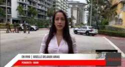 Giselle Delgado Arias en Cadena Tiempo. Los residentes del edificio cercano al derrumbe en Miami temen por su seguridad.