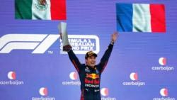 Checo Pérez gana el GP de Azerbaiyán es su primer triunfo con Red Bull y segundo en su carrera.