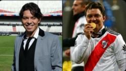 Dos postales. Hace 7 años cuando asumió en River, y el 9/12/18 el día que alcanzó la gloria máxima venciendo a Boca en la final de la Libertadores.