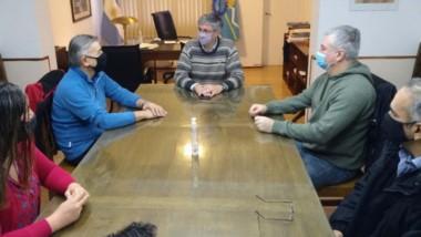 Respaldo. La dirigencia pidió que el ministro de Salud cambie su actitud para con el intendente Ongarato.