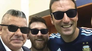 Claudio Tapia, Lionel Messi y Lionel Scaloni, la sociedad del éxito en la conquista de la Copa América.