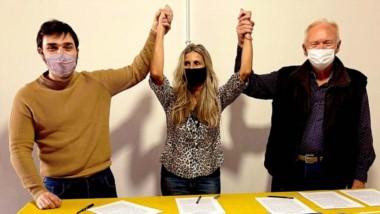 """Trío. """"Nacho"""" Torres, Caminoa y Petersen muestran confianza de cara a las elecciones legislativas."""