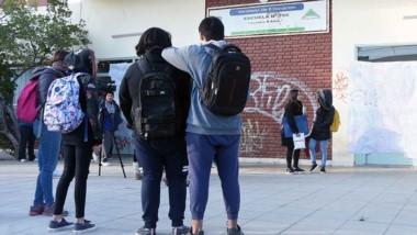 Reclamo de los alumnos de la Escuela 750 de Puerto Madryn.