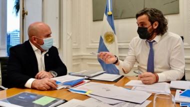 Diálogo. El intendente de Puerto Madryn y el jefe de Gabinete de Alberto tuvieron un mano a mano.
