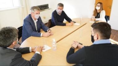 Gustavo Menna compartió actividad con el intendente Sergio Ongarato en Rada Tilly y Comodoro Rivadavia.