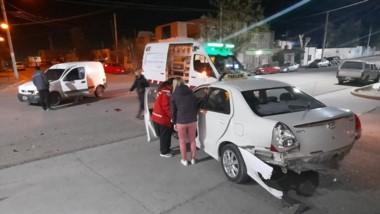 El accidente se produjo en la zona norte de Trelew, ayer a la mañana.